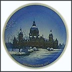 Hannover Town Hall Collector Plate by Helmut Drexler