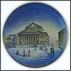 National Theatre Of Munich In The 19th Century Collector Plate by Helmut Drexler MAIN