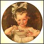 Cornflake Girl Collector Plate by J. C. Leyendecker