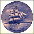 US Frigate Constitution Leaving the Port of Boston Collector Plate
