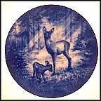 Doe & Fawns Collector Plate