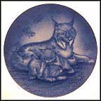 Lynx Family Collector Plate