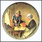 A Family's Full Measure Collector Plate by Norman Rockwell