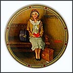 A Young Girl's Dream Collector Plate by Norman Rockwell