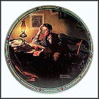 A Young Man's Dream Collector Plate by Norman Rockwell
