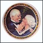 Golden Christmas Collector Plate by Norman Rockwell