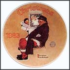 Santa In The Subway Collector Plate by Norman Rockwell