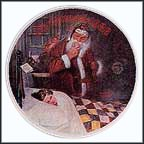 Deer Santy Claus Collector Plate by Norman Rockwell