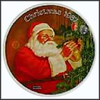 Santa's Golden Gift Collector Plate by Norman Rockwell