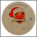 Santa Claus Collector Plate by Norman Rockwell