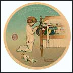 A Christmas Prayer Collector Plate by Norman Rockwell