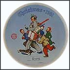 Santa's Helper Collector Plate by Norman Rockwell