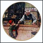 Back To School Collector Plate by Norman Rockwell