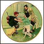 Home From Camp Collector Plate by Norman Rockwell