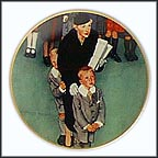 Men About Town Collector Plate by Norman Rockwell
