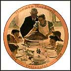 Freedom From Want Collector Plate by Norman Rockwell MAIN