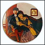 End Of Day Collector Plate by Norman Rockwell