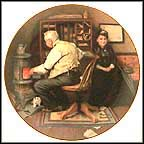 Keeping Company Collector Plate by Norman Rockwell