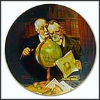 New Found Worlds Collector Plate by Norman Rockwell