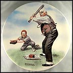 Batter Up Collector Plate by Norman Rockwell