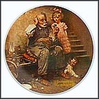 The Cobbler Collector Plate by Norman Rockwell