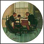 Family Grace Collector Plate by Norman Rockwell