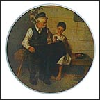 Lighthouse Keeper's Daughter Collector Plate by Norman Rockwell