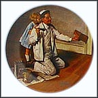 The Painter Collector Plate by Norman Rockwell