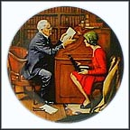 The Professor Collector Plate by Norman Rockwell