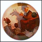 The Shadow Artist Collector Plate by Norman Rockwell
