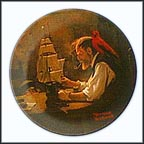 The Ship Builder Collector Plate by Norman Rockwell