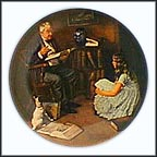 The Storyteller Collector Plate by Norman Rockwell