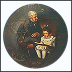 The Young Scholar Collector Plate by Norman Rockwell