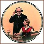 The Radio Operator Collector Plate by Norman Rockwell MAIN