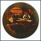 Fathers Help Collector Plate by Norman Rockwell