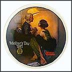 After The Party Collector Plate by Norman Rockwell