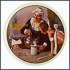 The Cooking Lesson Collector Plate by Norman Rockwell