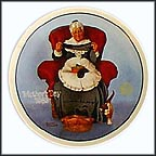 Mending Time Collector Plate by Norman Rockwell