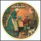 The Pantry Raid Collector Plate by Norman Rockwell