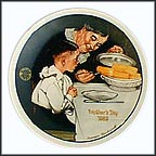 Sunday Dinner Collector Plate by Norman Rockwell