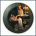Evening Prayers Collector Plate by Norman Rockwell