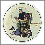 Building Our Future Collector Plate by Norman Rockwell