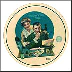 Gentle Reassurance Collector Plate by Norman Rockwell
