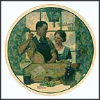 A Special Delivery Collector Plate by Norman Rockwell