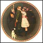Kiss And Tell Collector Plate by Norman Rockwell