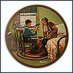 The Inventor And The Judge Collector Plate by Norman Rockwell
