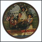 Our Love Of Country Collector Plate by Norman Rockwell