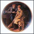 Confiding In The Den Collector Plate by Norman Rockwell