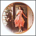 Standing In The Doorway Collector Plate by Norman Rockwell