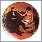 Flirting In The Parlor Collector Plate by Norman Rockwell